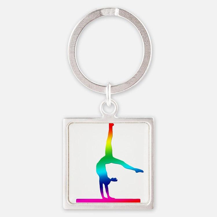 Flip Flop Rainbow Gymnast Keychains