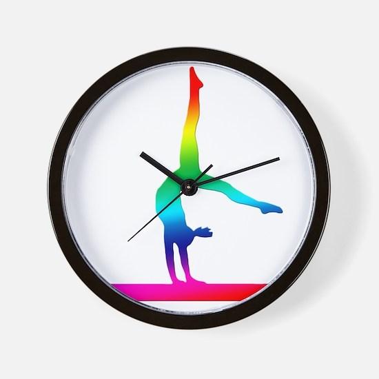 Flip Flop Rainbow Gymnast Wall Clock