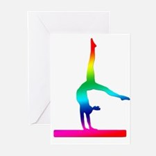 Flip Flop Rainbow Gymnast Greeting Cards (Pk of 10