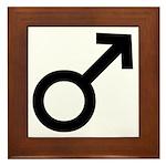 Male Sex Symbol Framed Tile