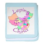 Leping China Map baby blanket