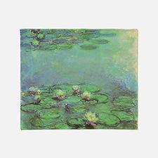 Waterlilies by Claude Monet Throw Blanket