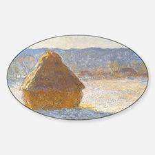 Grainstack by Claude Monet Sticker (Oval)