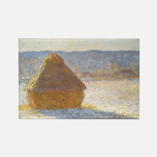 Grainstack by Claude Monet Rectangle Magnet