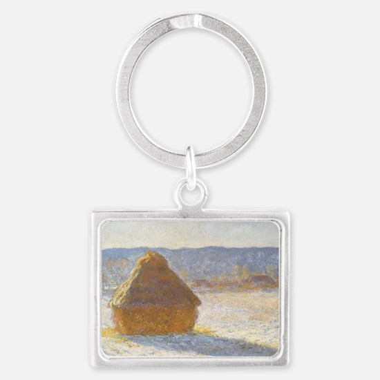 Grainstack by Claude Monet Landscape Keychain