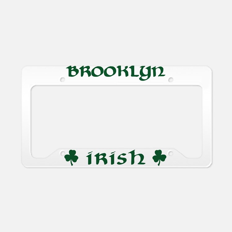 Brooklyn NY Irish License Plate Holder