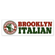 Brooklyn New York Italian Bumper Bumper Sticker