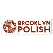 Brooklyn New York Polish Bumper Bumper Sticker