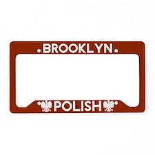 Brooklyn New York Polish License Plate Holder