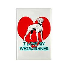 I Love My Weimaraner Rectangle Magnet