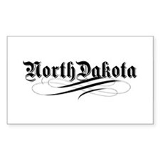 North Dakota Rectangle Decal