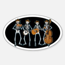 Cowboy Music Skeletons Oval Bumper Stickers