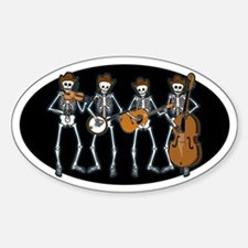 Cowboy Music Skeletons Oval Stickers