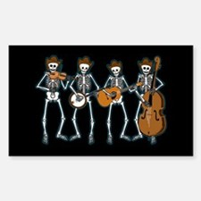 Cowboy Music Skeletons Rectangle Decal