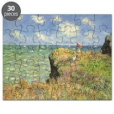 Cliff Walk at Pourville by Claude Monet Puzzle