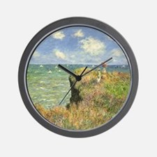 Cliff Walk at Pourville by Claude Monet Wall Clock