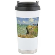 Cliff Walk at Pourville by Clau Travel Mug
