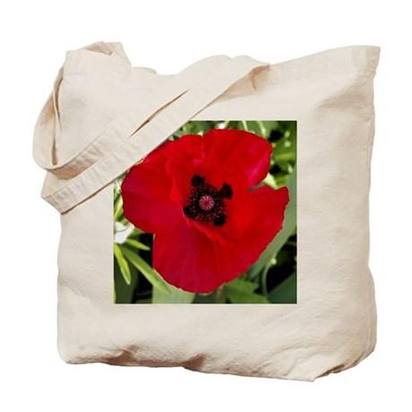 Tote Bag Red Poppy # 38
