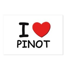 I love pinot Postcards (Package of 8)