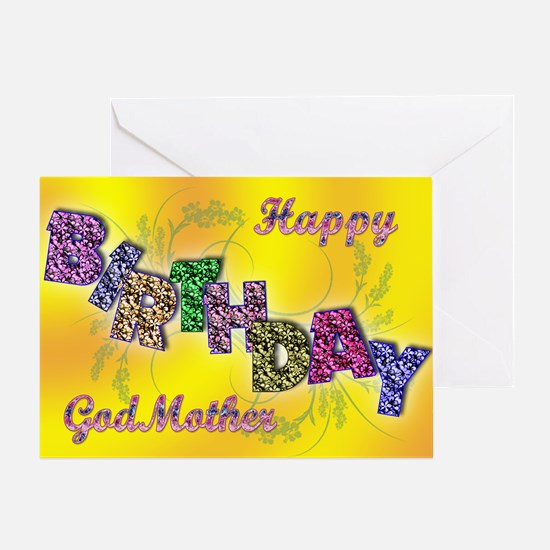 Birthday card for Godmother Greeting Card