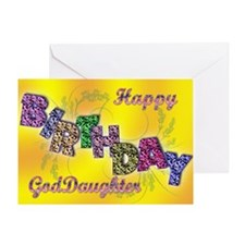 Birthday card for Goddaughter Greeting Card