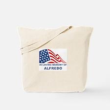 Loving Memory of Alfredo Tote Bag