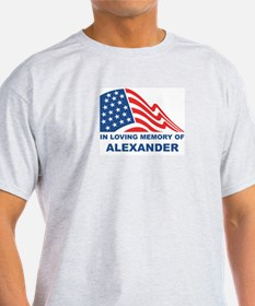 Loving Memory of Alexander Ash Grey T-Shirt