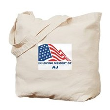 Loving Memory of Aj Tote Bag