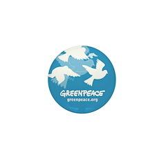 Blue doves Mini Button (10 pack)