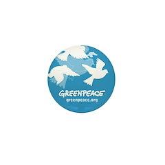 Blue doves Mini Button