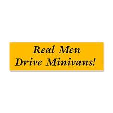 Real Men Drive Minivans Car Magnet 10 x 3