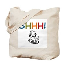 Shhh! Retro Librarian Tote Bag