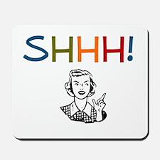 Shhh! Retro Librarian Mousepad