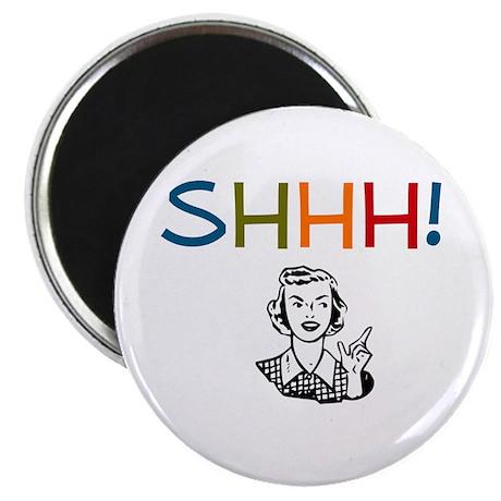 Shhh! Retro Librarian Magnet