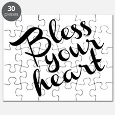 Bless Your Heart (in black) Puzzle
