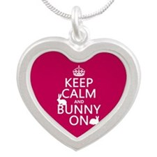 Keep Calm and Bunny On Necklaces