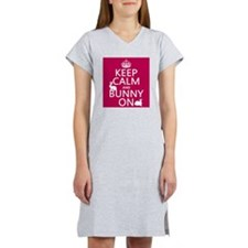 Keep Calm and Bunny On Women's Nightshirt