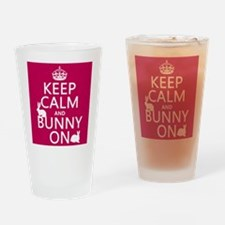 Keep Calm and Bunny On Drinking Glass