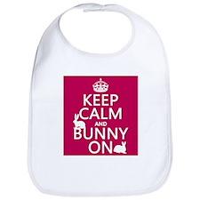 Keep Calm and Bunny On Bib