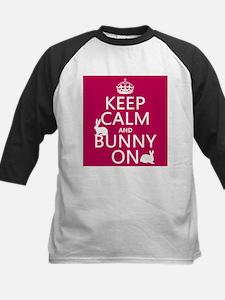 Keep Calm and Bunny On Baseball Jersey