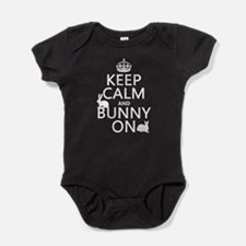 Keep Calm and Bunny On Baby Bodysuit