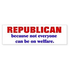 Republican Welfare Bumper Car Sticker