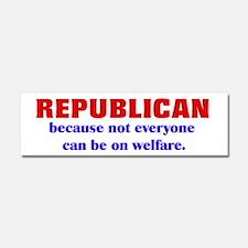 Republican Welfare Car Magnet 10 x 3