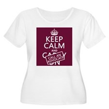 Keep Calm and Call An Advocate Plus Size T-Shirt