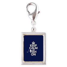 Keep Calm and Fish On Charms