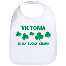 Victoria is my lucky charm Bib