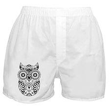Sugar Skull Owl Boxer Shorts