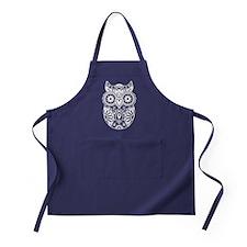 Sugar Skull Owl Apron (dark)