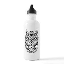 Sugar Skull Owl Water Bottle