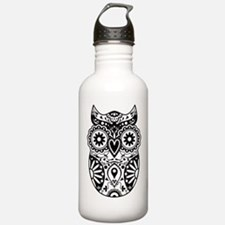 Sugar Skull Owl Water Bottle